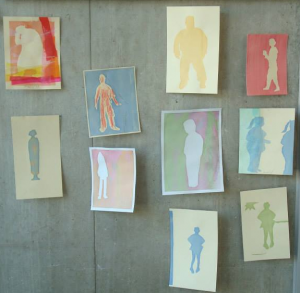 Art Work on display at UCS - Silhouettes