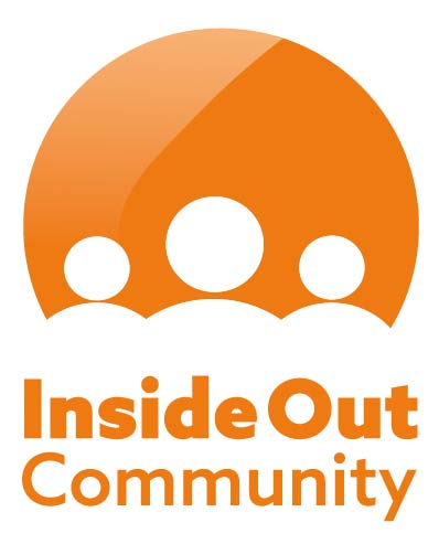 Orange and white Inside Out Community logo.