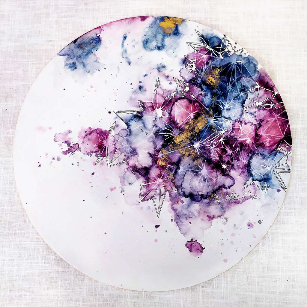 Colourful artwork.