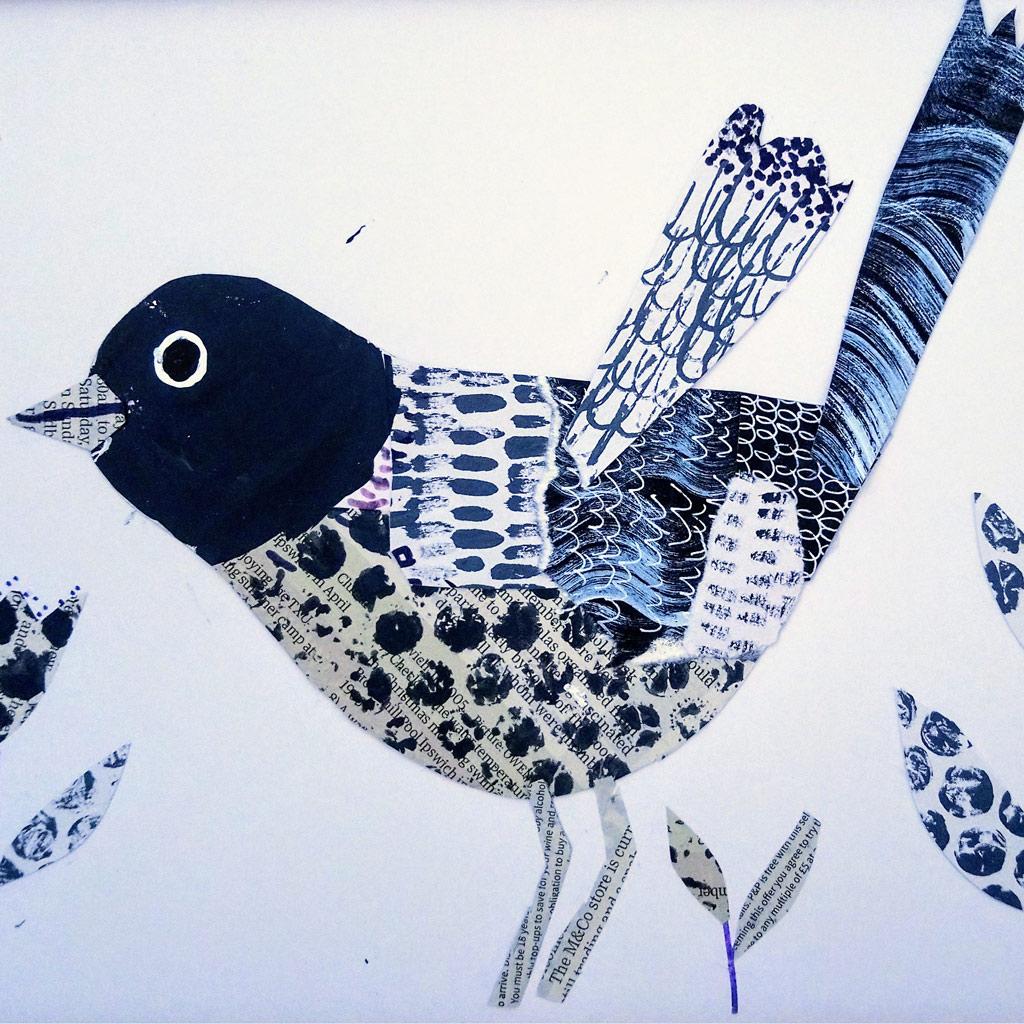 Artwork showing a bird