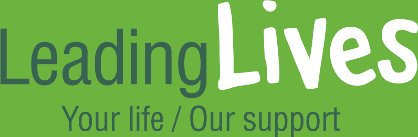 Logo showing the wording 'Leading Lives Your Life/ Our Support'