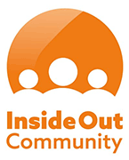 Orange and White Inside Out Community logo